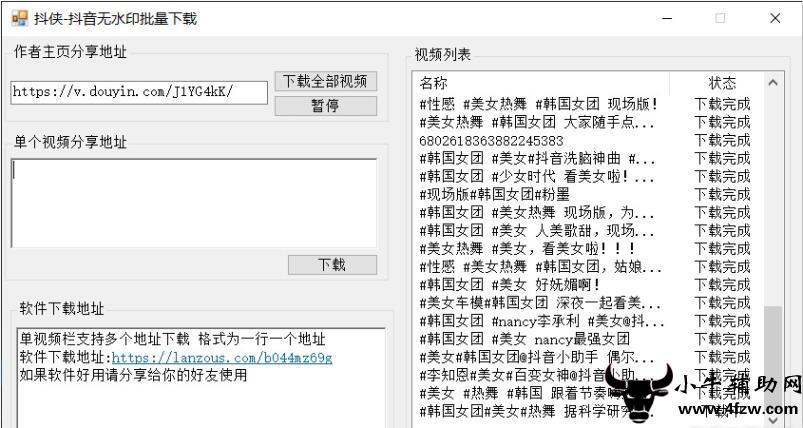 抖侠批量去水印下载工具PC版