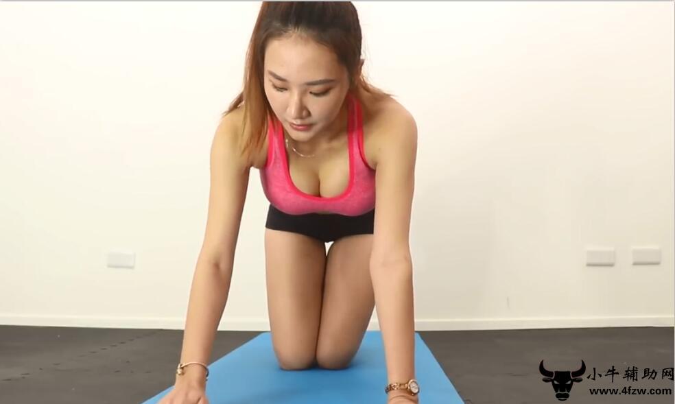 美女健身教学有扛不住的诱惑