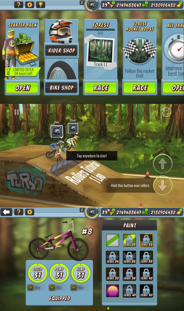 疯狂自行车2无限金币版本游戏