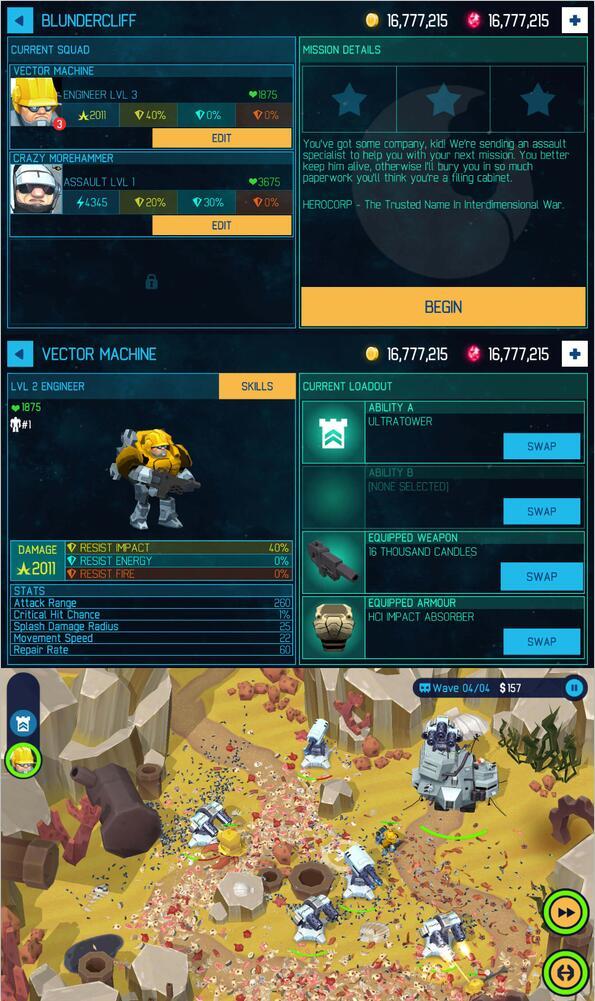 3D塔防游戏无限钻石版本游戏
