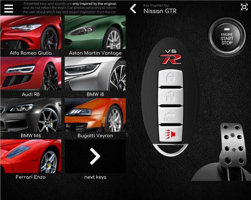 安卓超级跑车钥匙车钥匙模拟器