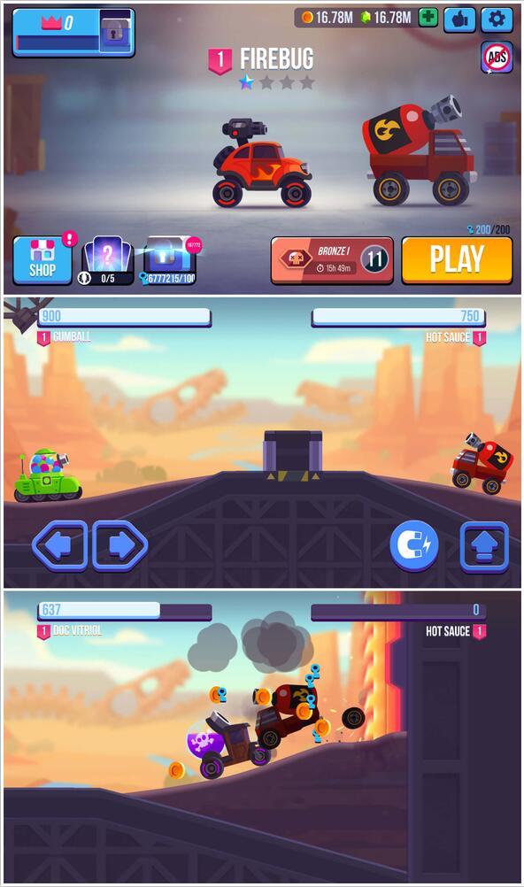魔性闯关动力机械解锁车辆游戏