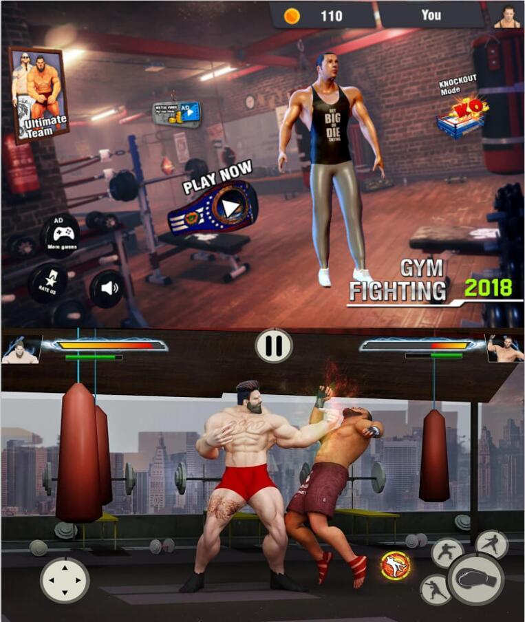 安卓健身房战斗摔打架高手模拟