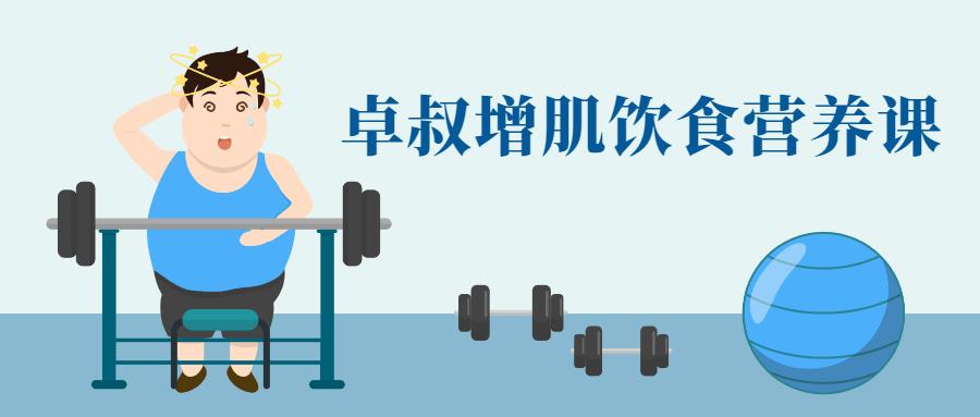 卓叔健身增肌饮食营养课教程