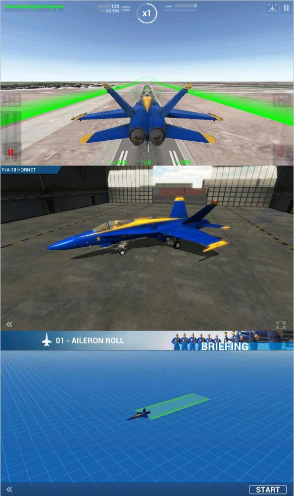 蓝色天使特技飞行飞行游戏