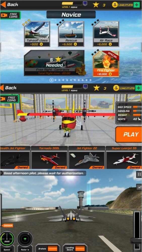 真实飞行模拟3D驾驶游戏