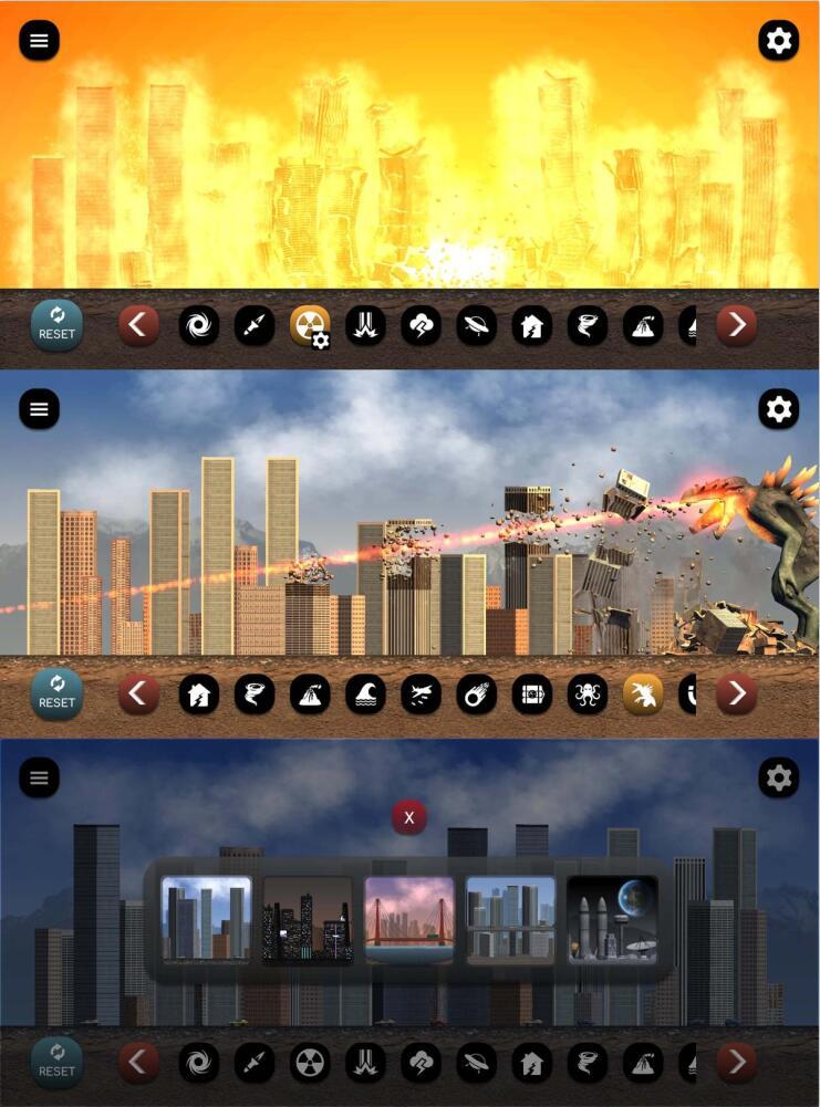 城市粉碎模拟器模拟摧毁城市