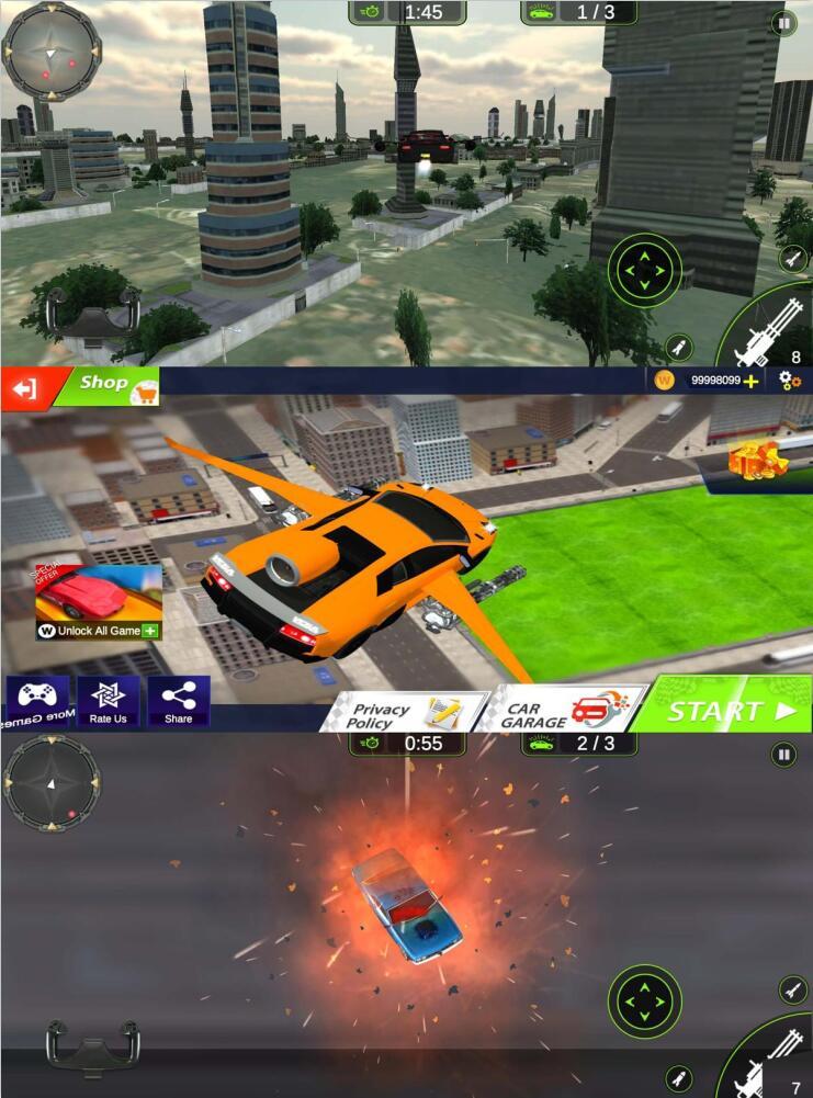 极速飞车飞车射击游戏