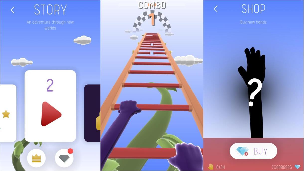 爬上梯子动作闯关游戏