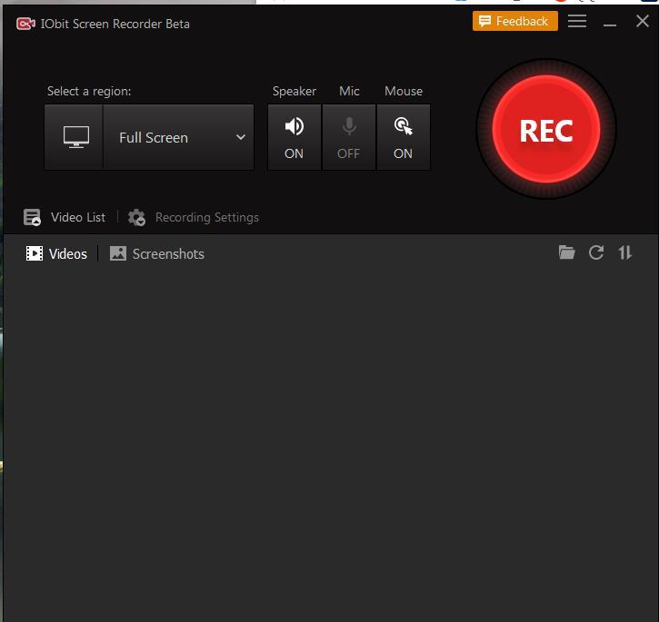 IObit屏幕录像机免费屏幕录像