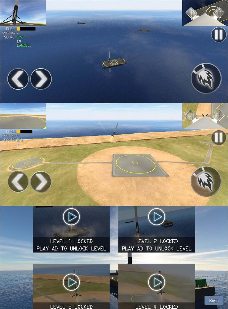 一级火箭着陆模拟器的游戏