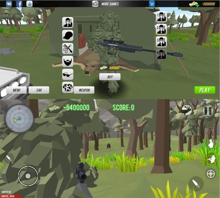 狩猎模拟器像素风格游戏